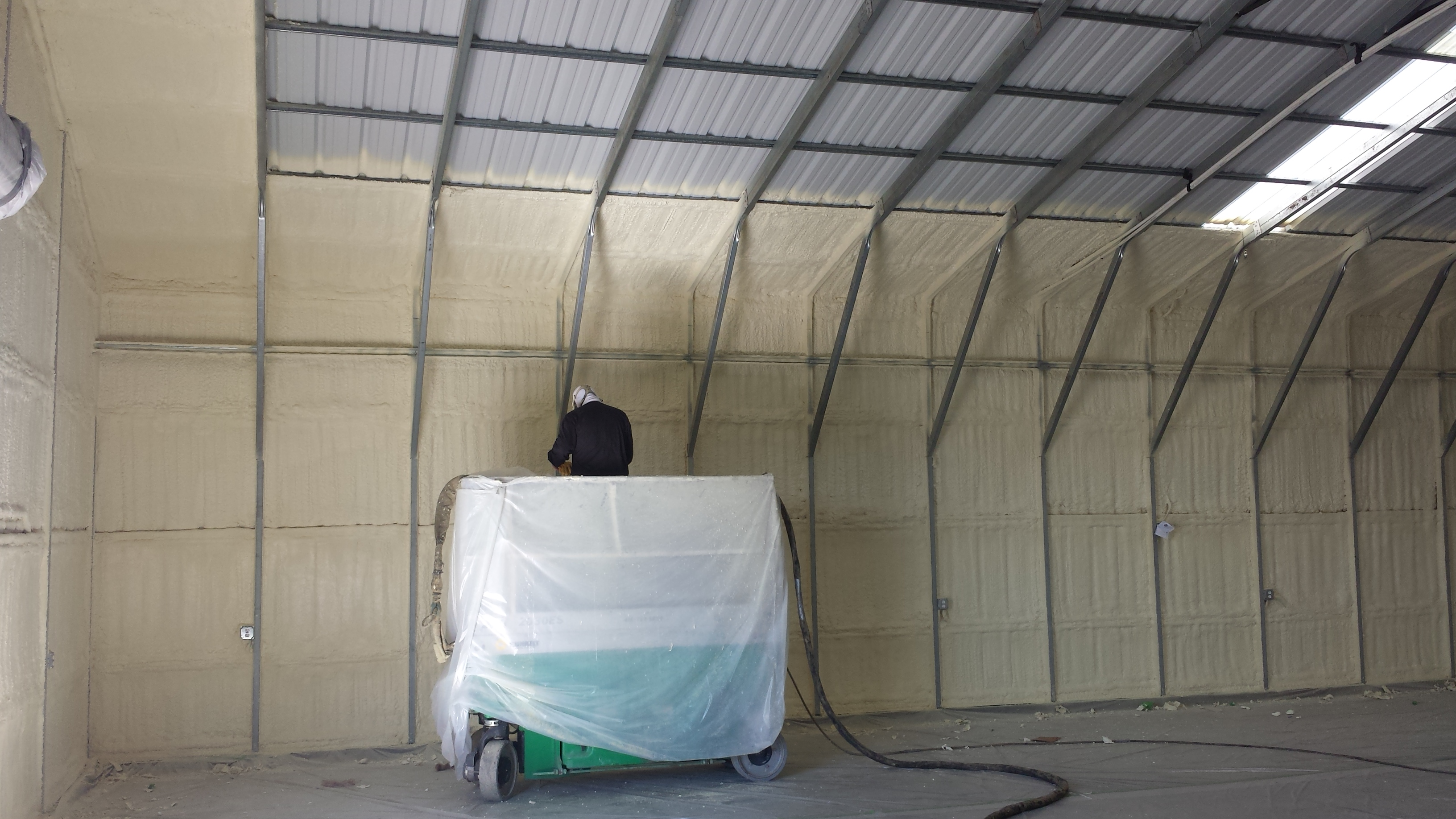 Spraying with Lift